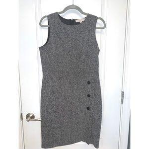 Loft Size 8 Gray Tweed  Dress